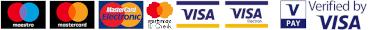 Elfogadott kártyák: Maestro, MasterCard, MasterCard Electronic, VISA, VISA Electron, V-Pay